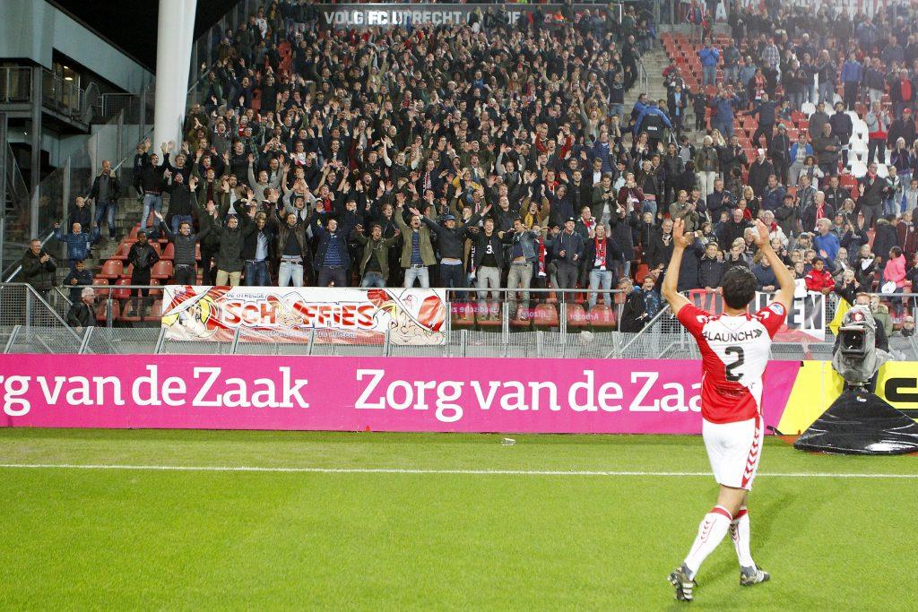 Mark van der Maarel voor 'zijn vak' in de Galgenwaard. Foto: Frank Zilver / FC Utrecht
